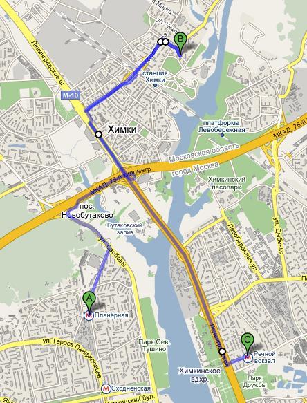 Как добраться до гостиници МАЯК Ближайшее метро от МАЯКа: Планерная и Речной вокзал Ближайшее ж/д станции...